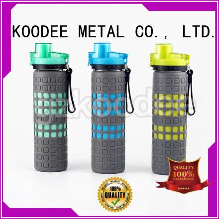 bottle logo food glass water bottle with lid Koodee manufacture