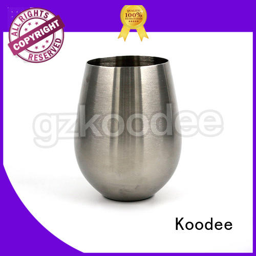 stainless steel wine cups plating newest Warranty Koodee