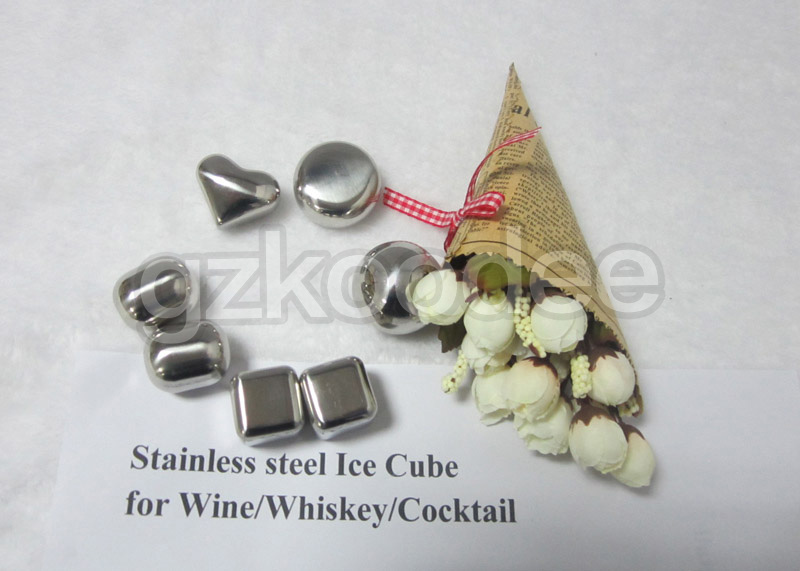 304 Stainless Steel Whiskey Stones Food Grade Stainless Steel Ice Cube-11