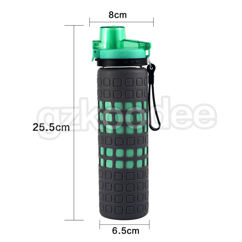 small-mouth eco friendly glass water bottles logo printing for traveler