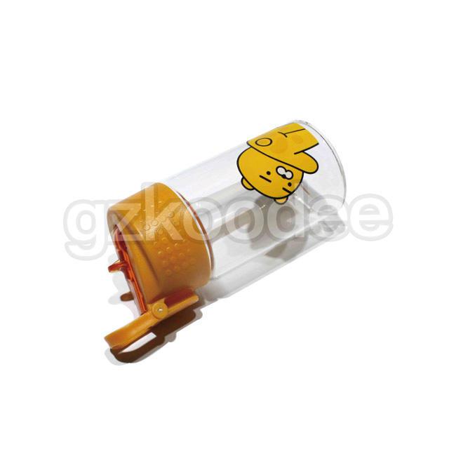 High quality wholesale FDA free cartoon design water glass bottle 500ml Koodee