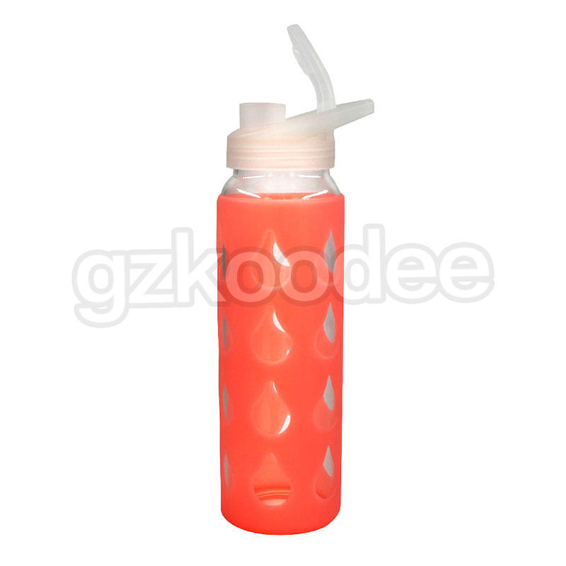 Popular Borosilicate Glass Water Bottle With Silicone Sleeve
