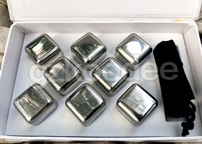 Koodee Brand golden stainless steel ice cubes ecofriendly factory