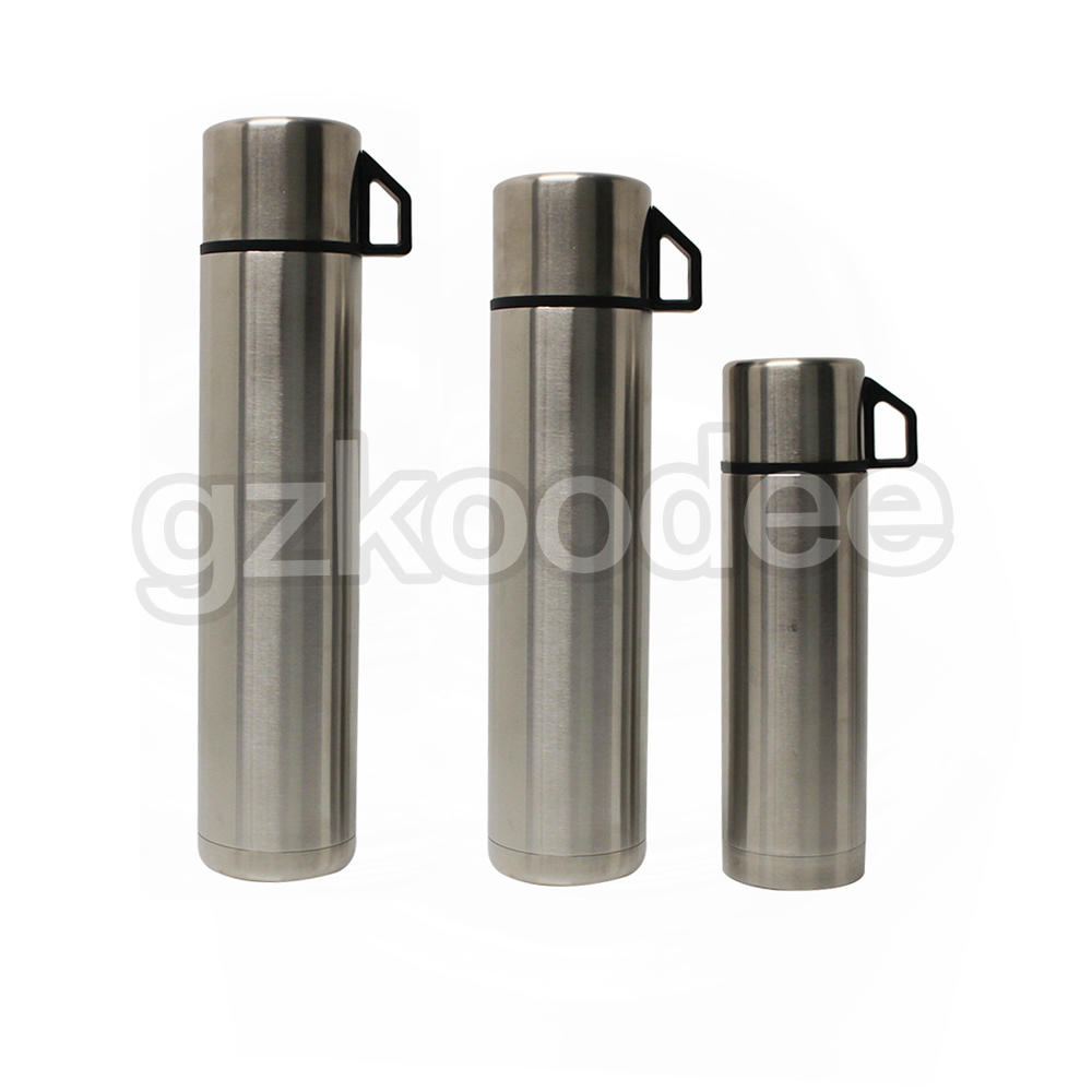 New Style 3 Capacity Insulated Travel Water Bottle with Press Lid and Cover Cup