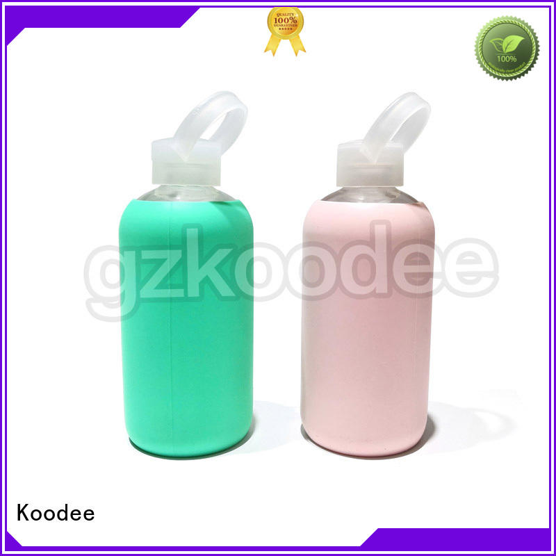 Quality Koodee Brand glass water bottle with lid food