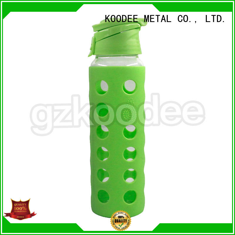 free special popular bpa glass water bottle with lid Koodee Brand