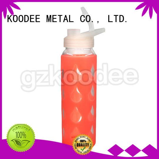 water quality cartoon Koodee Brand glass water bottle supplier