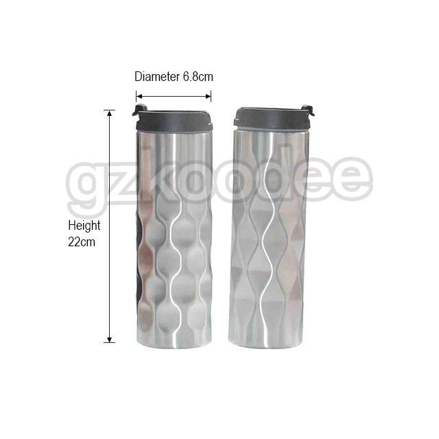 Koodee customized stainless steel travel coffee mugs simple design for wine