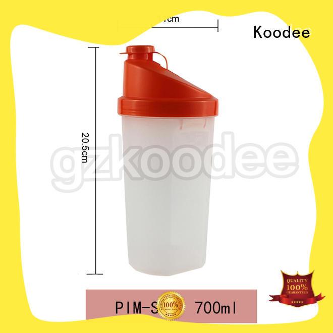Koodee simple best plastic water bottle shaker for coffee