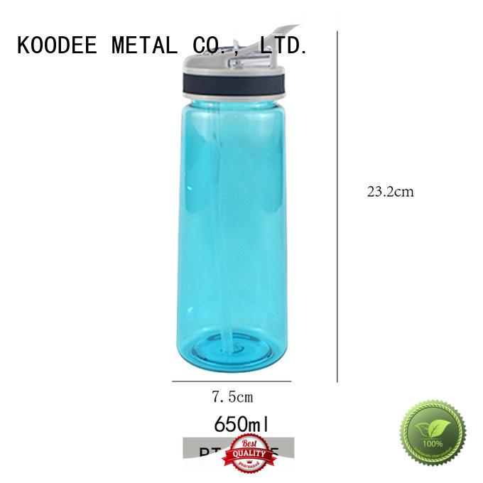 safe plastic drinking bottles dumbbell shape for liquid Koodee