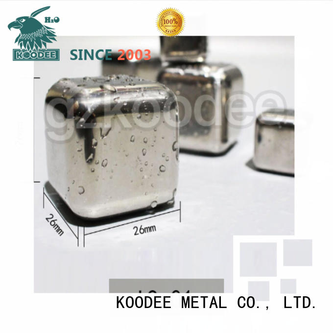 high-quality stainless steel cooling cubes skull shape for whiskey