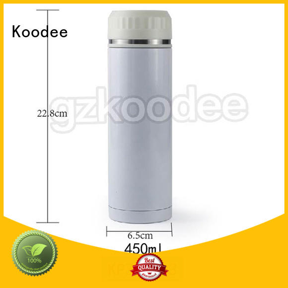 Vacuum Bottle Double Wall Stainless Water Bottle With Tea Strainer Koodee
