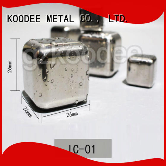 Koodee harm-free stainless steel cooling cubes hot-sale for pint