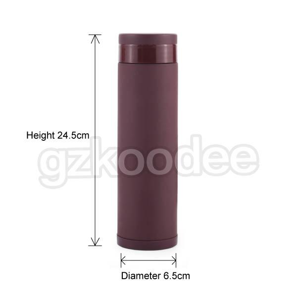 color metal insulated water bottle contact student