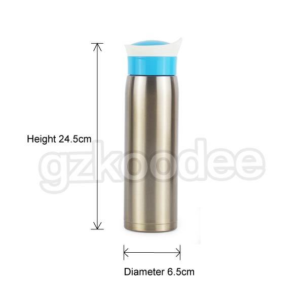 Double Wall Water Bottle Stainless Steel Thermal Insulated Vacuum Flask Koodee
