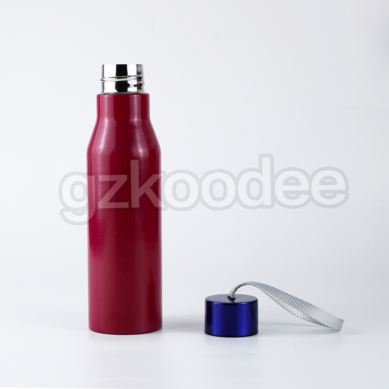 Double wall stainless water bottle with rope handle-7