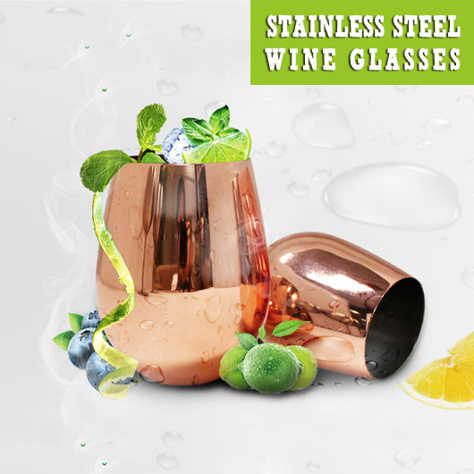 Fashion new stainless steel cooper coating wine glass 18oz Koodee-7