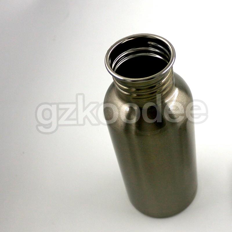 Koodee Customized single wall stainless steel portable water bottles 350ml/500ml/600ml/750ml/1000ml-7