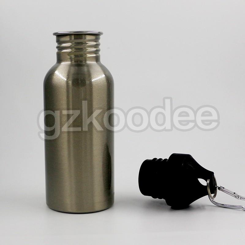 Koodee Customized single wall stainless steel portable water bottles 350ml/500ml/600ml/750ml/1000ml-8