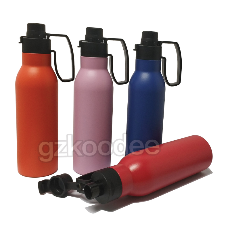 Koodee New Design Easy Portable Double Wall Insulated Vacuum Stainless Steel Water Bottle-7
