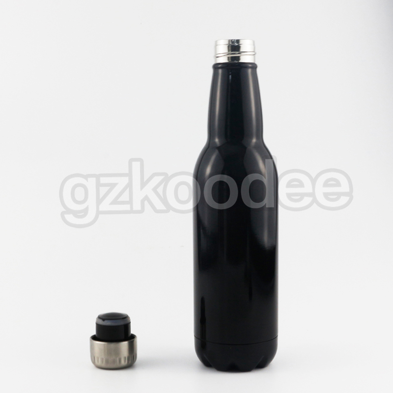 Beer Shape Water Bottle Double Wall Vacuum Flask 280 ml/350 ml/500 ml/750 ml-7