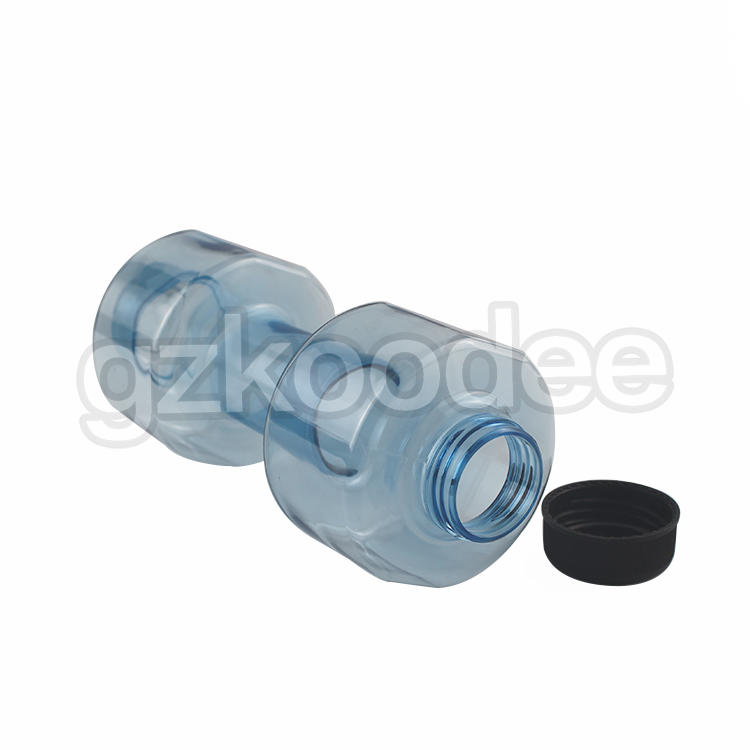 BPA Free And LFGB Plastic Tritan Dumbbell Shape Water Bottle Manufacturer 550ml Koodee