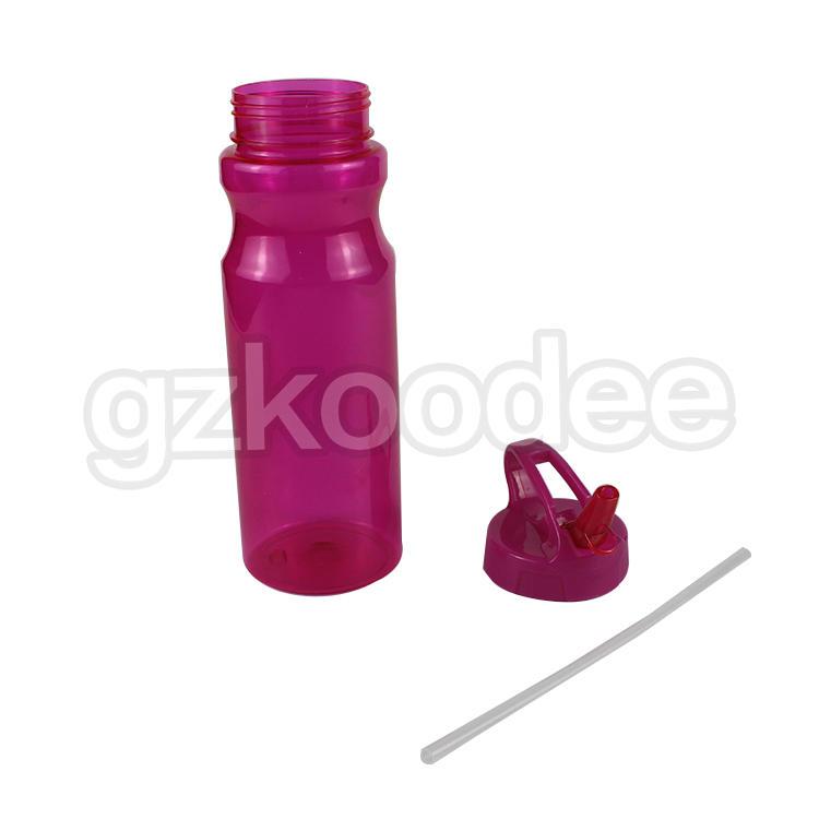 FDA Approval Tritan material 700ml Sport Water Bottle With Straw Koodee