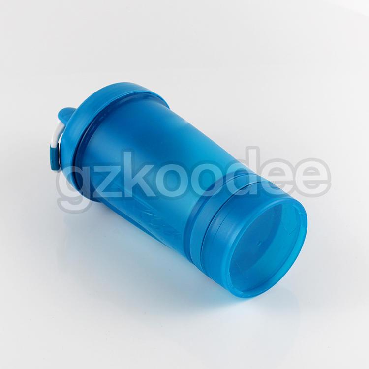 Plastic Custom Logo Printed Sports Gym Protein Shaker Bottle 600ml Koodee