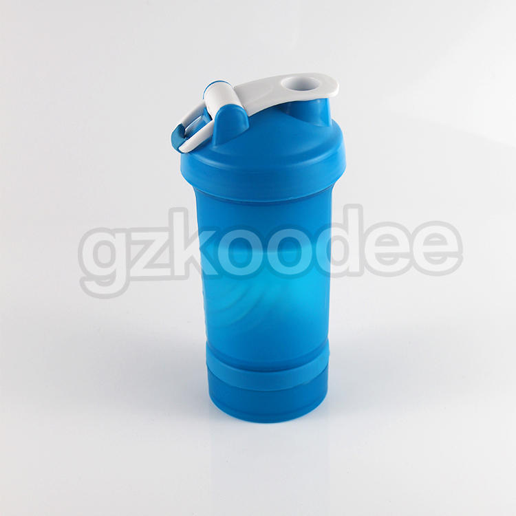 Plastic Custom Logo Printed Sports Gym Protein Shaker Bottle 600ml Koodee