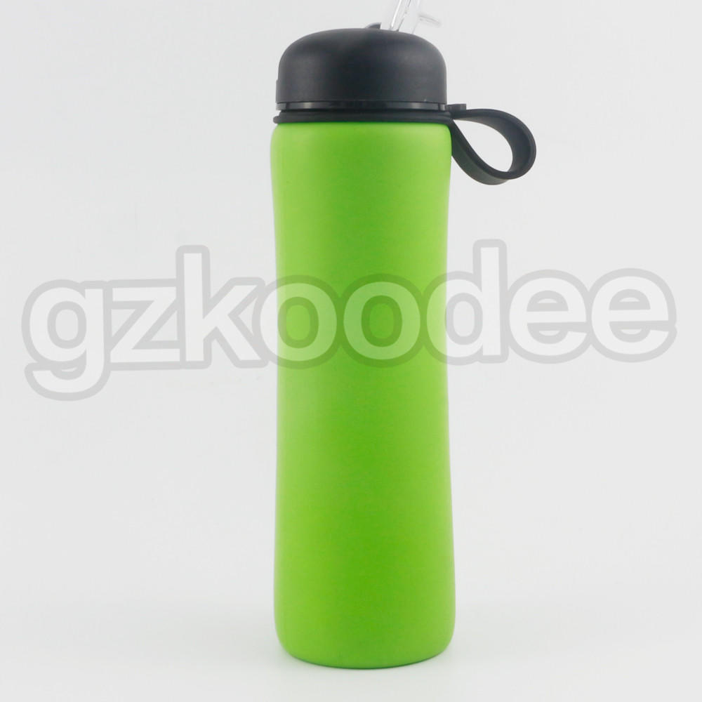 Hot Selling Custom Logo Silicone Water Bottle