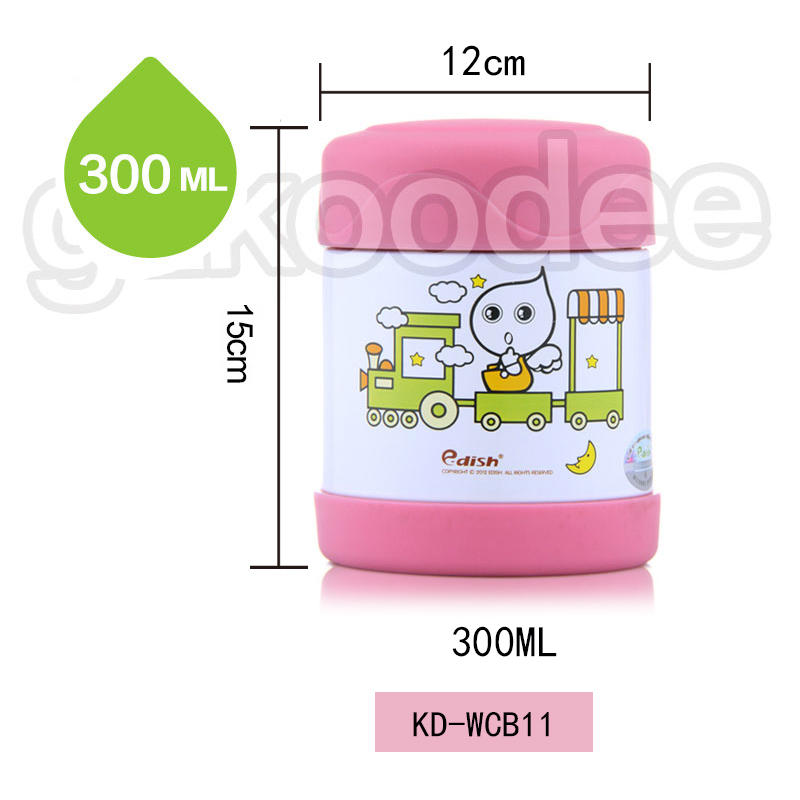 2019 new unbreakable stainless steel food container/soup container 300ml Koodee