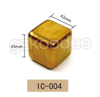 2019 hot sale food grade eco-friendly golden square shape ice cubes