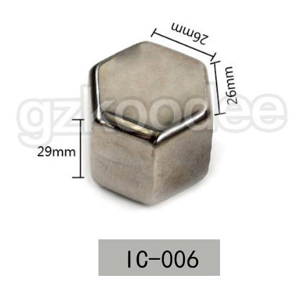 Customized square shape 304 stainless steel ice cubes