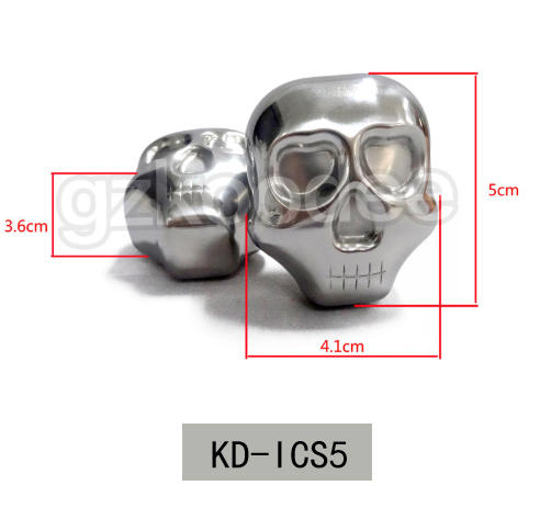 Food grade stainless steel ice cube in skull shape