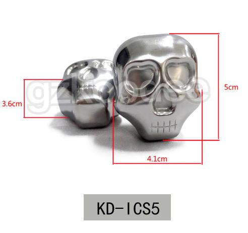 Food grade stainless steel ice cube in skull shape