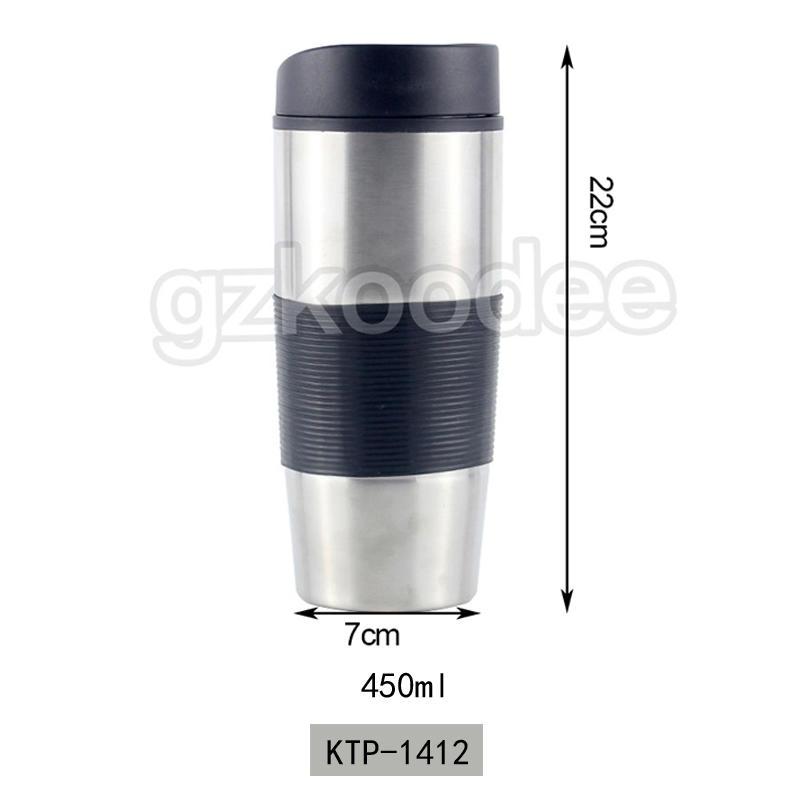 Custom Double Wall Stainless Steel Insulated Coffee Mug 450ml Koodee