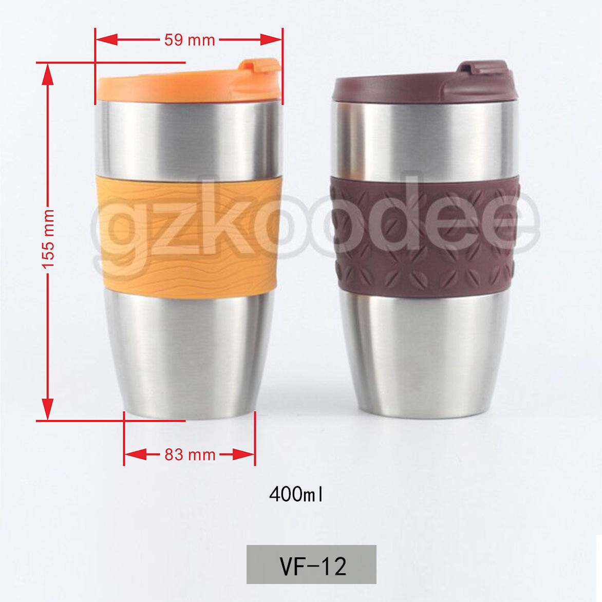 High Quality Fashion Vacuum Stainless Steel Vacuum Flask Water Tumbler 400ml Koodee