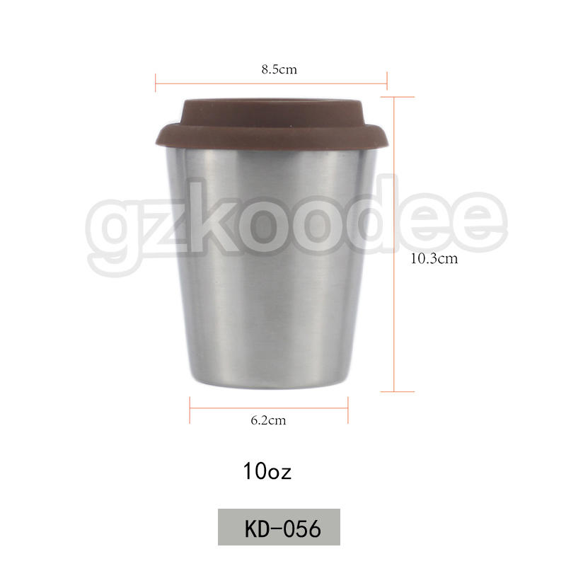 double wall stainless steel 304 coffee mug cafe office vacuum tumbler car thermos coffee cup 10OZ Koodee