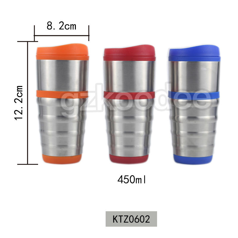 Amazon hot sale eco-friendly neck proof vacuum coffee mug 450ml Koodee