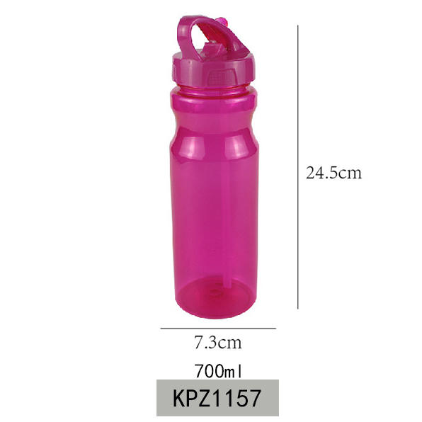 FDA Approval Tritan material 700ml Sport Water Bottle With Straw Koodee