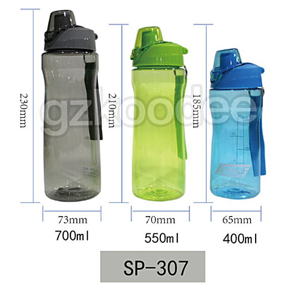400ml/550ml/700ml Hydration Water bottle with Flip Cap Koodee