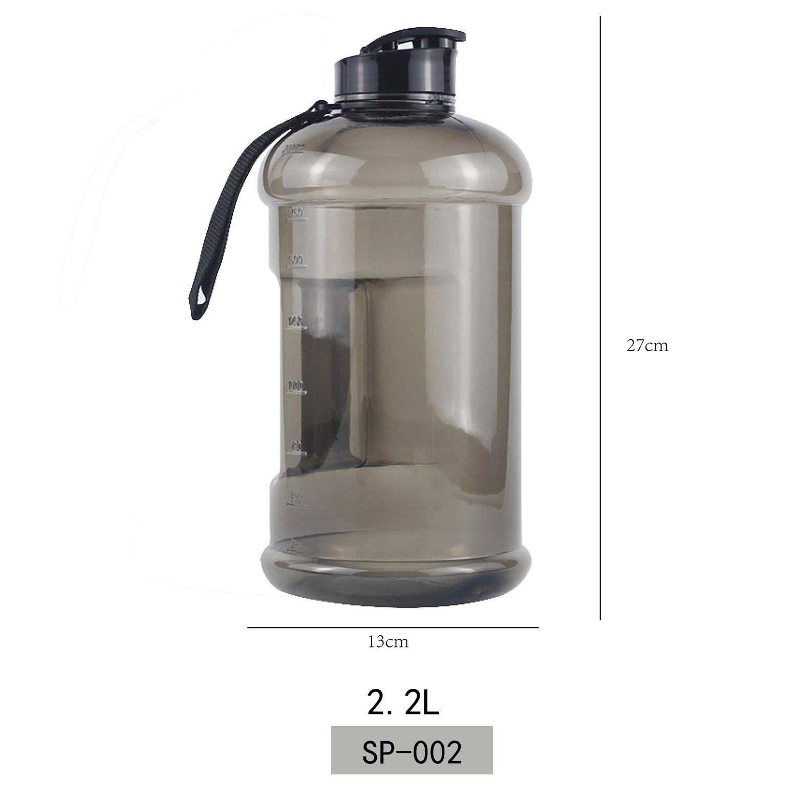 BPA Free And LFGB Plastic PETG Water Bottle Wholesale 2.2L Koodee