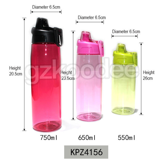Fashion design Water Bottle with Lock Pop up Lid 550/650/750ml Koodee