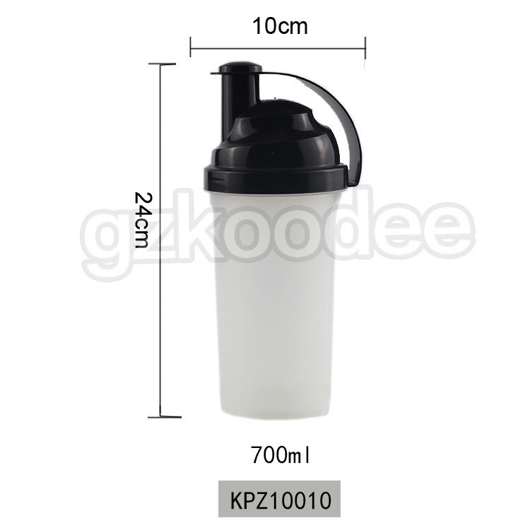 Free BPA custom LOGO private label GYM shakers bottle sport Protein bottle protein drinking water shaker bottle 700ml Koodee
