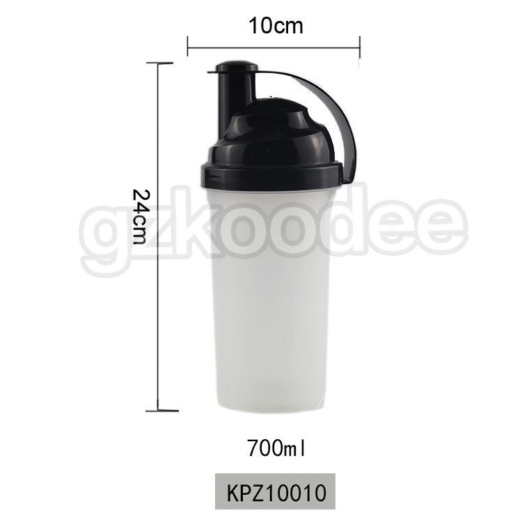 Free BPA custom LOGO private label GYM shakers bottle sport Protein bottle protein drinking water shaker bottle 700ml Koodee