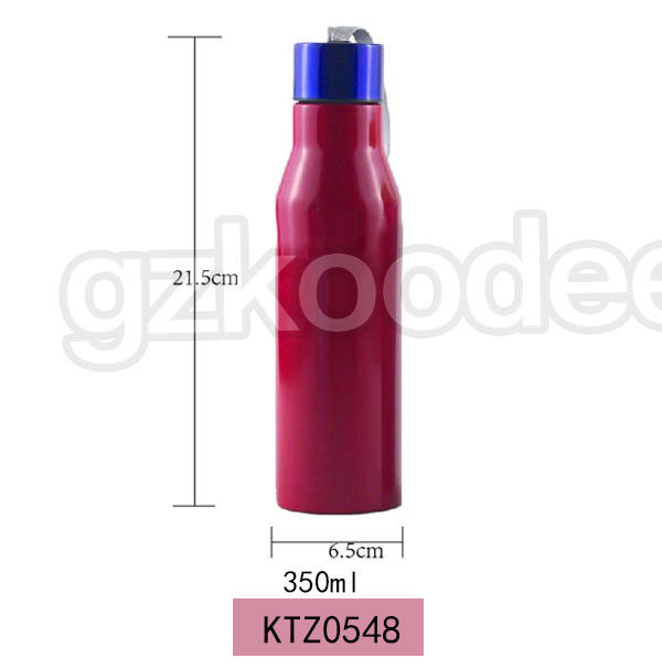 Double wall stainless water bottle with rope handle