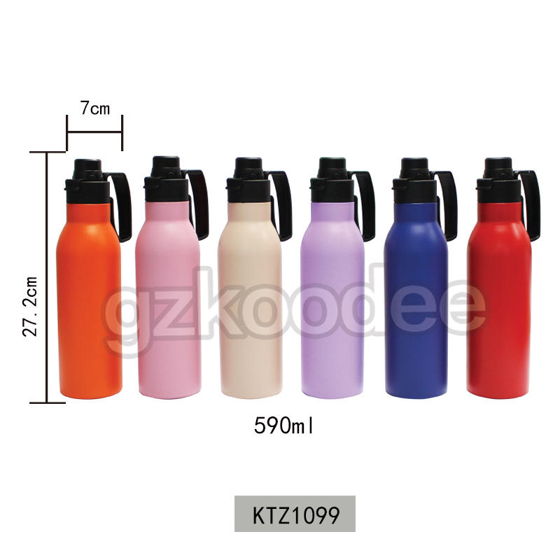 Koodee New Design Easy Portable Double Wall Insulated Vacuum Stainless Steel Water Bottle