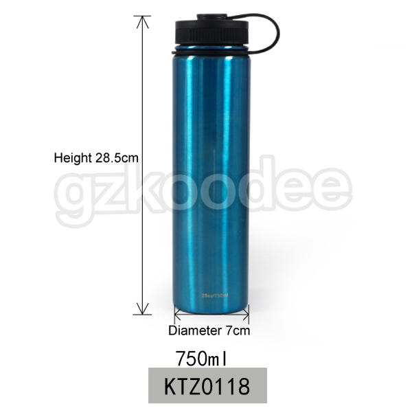 custom your own design double wall vacuum insulated stainless steel water sport bottle
