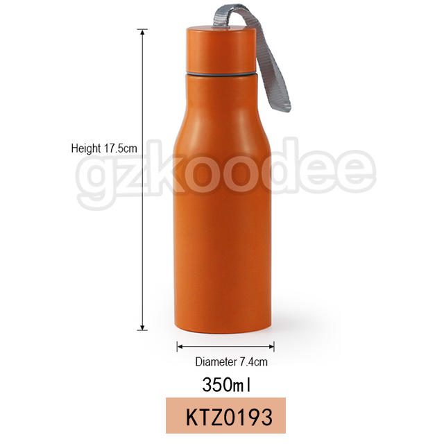 Vacuum bottle thermal insulated portable rope double wall stianless steel 350ml Koodee