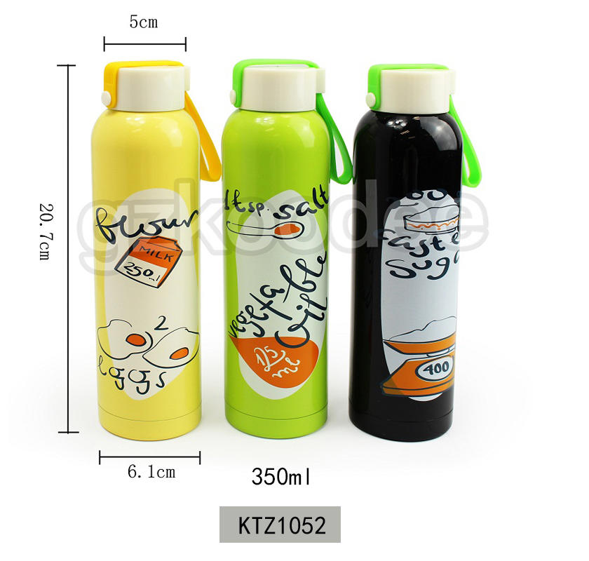 Sport Water Bottle Double Wall Vacuum Insulated BPA Free Travel 350 ml Bottle